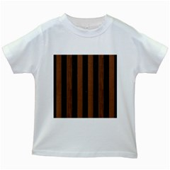 STR1 BK-MRBL BR-WOOD Kids White T-Shirts