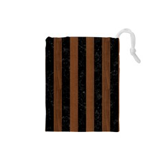 STR1 BK-MRBL BR-WOOD Drawstring Pouches (Small)
