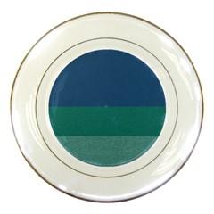 Blue Gradient Glitter Texture Pattern  Porcelain Plates