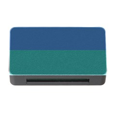 Blue Gradient Glitter Texture Pattern  Memory Card Reader with CF