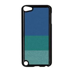 Blue Gradient Glitter Texture Pattern  Apple iPod Touch 5 Case (Black)