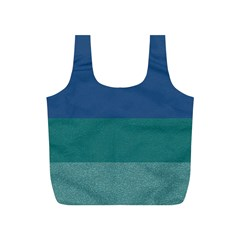 Blue Gradient Glitter Texture Pattern  Full Print Recycle Bags (s)
