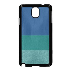 Blue Gradient Glitter Texture Pattern  Samsung Galaxy Note 3 Neo Hardshell Case (Black)