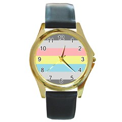 Demiflux Round Gold Metal Watch
