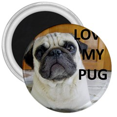 Pug Love W Picture 3  Magnets