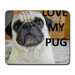 Pug Love W Picture Large Mousepads