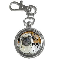 Pug Love W Picture Key Chain Watches