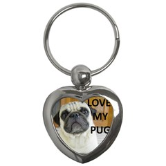 Pug Love W Picture Key Chains (Heart)
