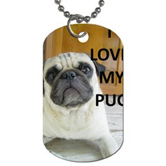Pug Love W Picture Dog Tag (One Side)