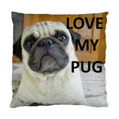 Pug Love W Picture Standard Cushion Case (Two Sides)