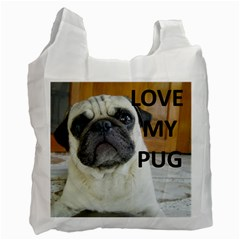 Pug Love W Picture Recycle Bag (one Side)