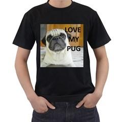 Pug Love W Picture Men s T Shirt (black)