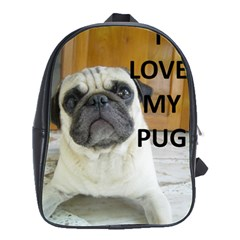Pug Love W Picture School Bags(Large)