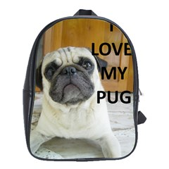 Pug Love W Picture School Bags (XL)