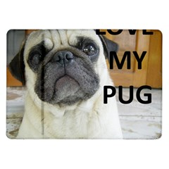 Pug Love W Picture Samsung Galaxy Tab 10.1  P7500 Flip Case