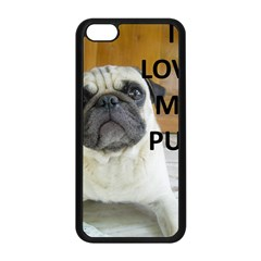 Pug Love W Picture Apple Iphone 5c Seamless Case (black)