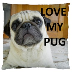 Pug Love W Picture Standard Flano Cushion Case (Two Sides)