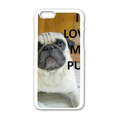 Pug Love W Picture Apple iPhone 6/6S White Enamel Case