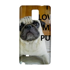 Pug Love W Picture Samsung Galaxy Note 4 Hardshell Case