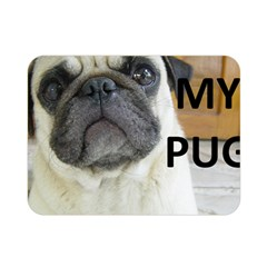 Pug Love W Picture Double Sided Flano Blanket (Mini)