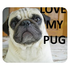 Pug Love W Picture Double Sided Flano Blanket (Small)