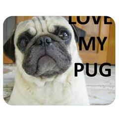 Pug Love W Picture Double Sided Flano Blanket (Medium)