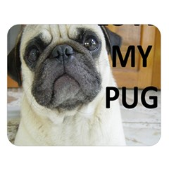 Pug Love W Picture Double Sided Flano Blanket (Large)