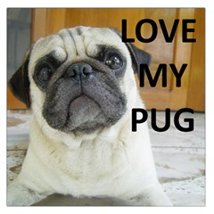 Pug Love W Picture Large Satin Scarf (Square)