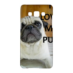 Pug Love W Picture Samsung Galaxy A5 Hardshell Case