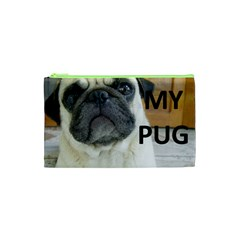 Pug Love W Picture Cosmetic Bag (XS)