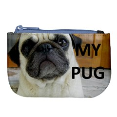 Pug Love W Picture Large Coin Purse