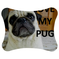 Pug Love W Picture Jigsaw Puzzle Photo Stand (Bow)