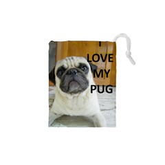 Pug Love W Picture Drawstring Pouches (XS)