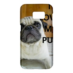Pug Love W Picture Samsung Galaxy S7 Hardshell Case