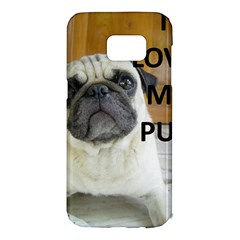 Pug Love W Picture Samsung Galaxy S7 Edge Hardshell Case