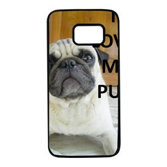 Pug Love W Picture Samsung Galaxy S7 Black Seamless Case