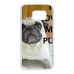 Pug Love W Picture Samsung Galaxy S7 White Seamless Case
