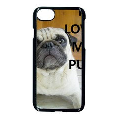 Pug Love W Picture Apple iPhone 7 Seamless Case (Black)