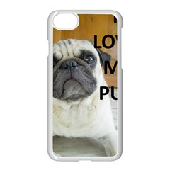 Pug Love W Picture Apple iPhone 7 Seamless Case (White)