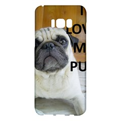 Pug Love W Picture Samsung Galaxy S8 Plus Hardshell Case