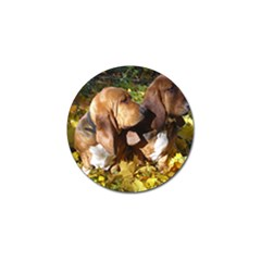 2 Bassets Golf Ball Marker