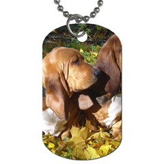 2 Bassets Dog Tag (Two Sides)