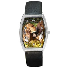 2 Bassets Barrel Style Metal Watch
