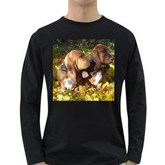 2 Bassets Long Sleeve Dark T-Shirts