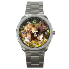 2 Bassets Sport Metal Watch