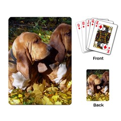 2 Bassets Playing Card