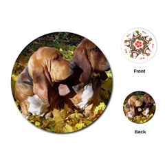 2 Bassets Playing Cards (Round)