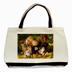 2 Bassets Basic Tote Bag