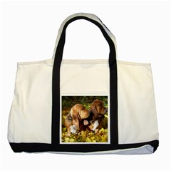 2 Bassets Two Tone Tote Bag
