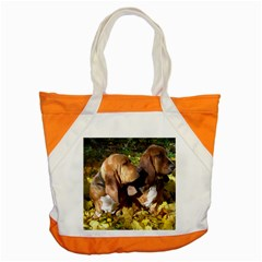 2 Bassets Accent Tote Bag